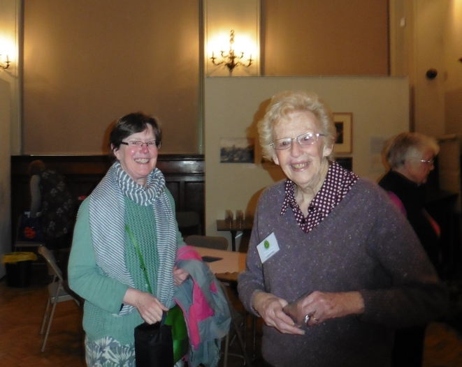 Hazel and Ailsa at the coffee morning